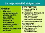 la responsabilit dirigenziale