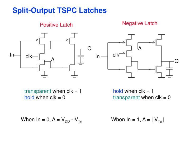 Split-Output TSPC Latches