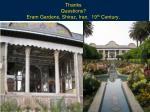 thanks questions eram gardens shiraz iran 19 th century