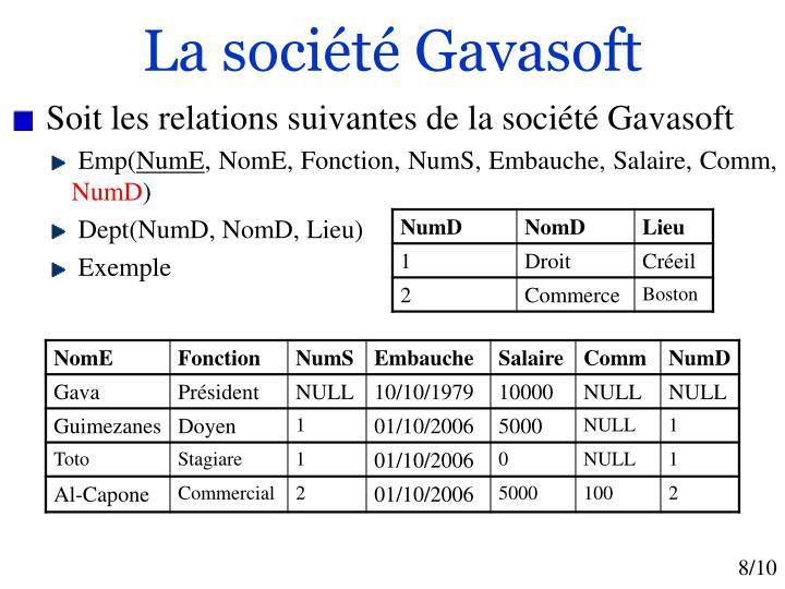 La société Gavasoft