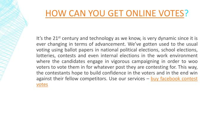 How Can You Get Online Votes