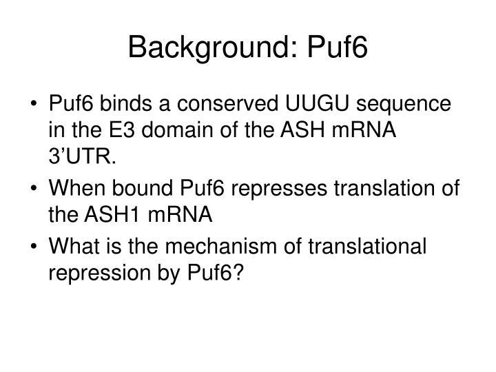 Background: Puf6