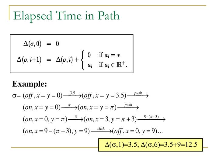 Elapsed Time in Path