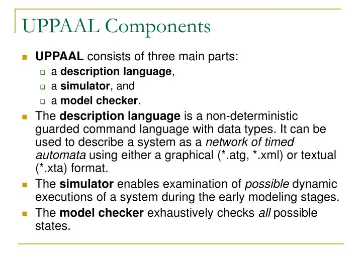 UPPAAL Components