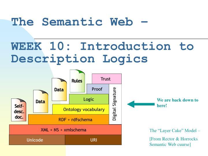 the semantic web week 10 introduction to description logics n.