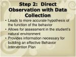 step 2 direct observation with data collection1