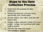 steps to the data collection process