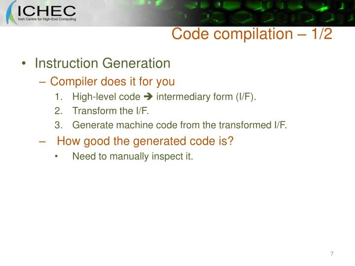 Code compilation – 1/2