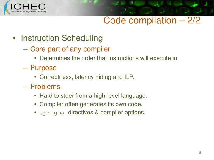 Code compilation – 2/2