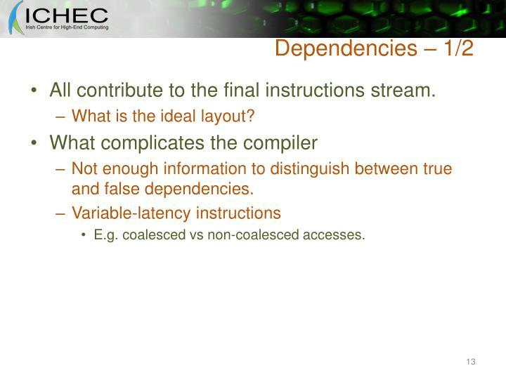 Dependencies – 1/2
