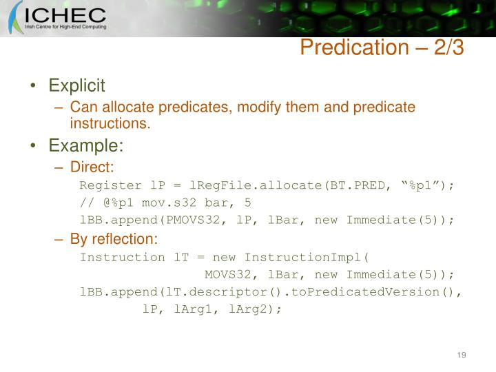 Predication – 2/3