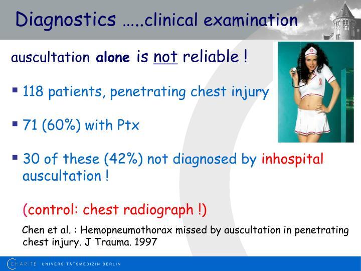 Diagnostics clinical examination