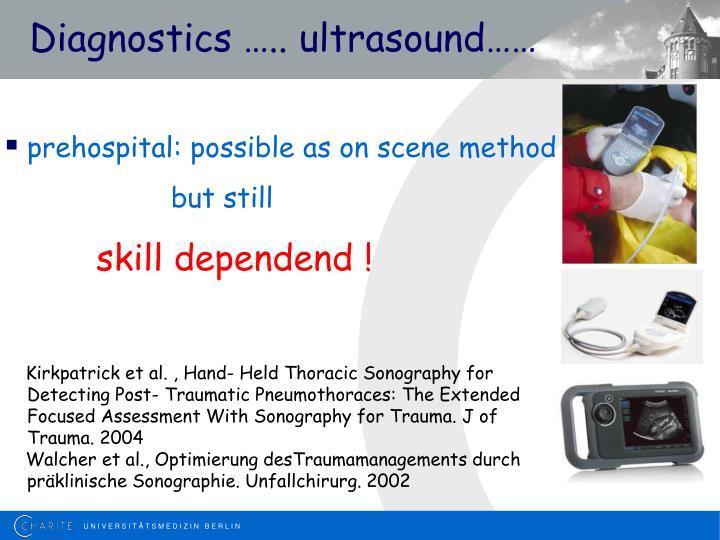 Diagnostics ….. ultrasound……