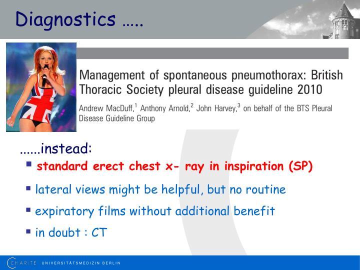 Diagnostics …..