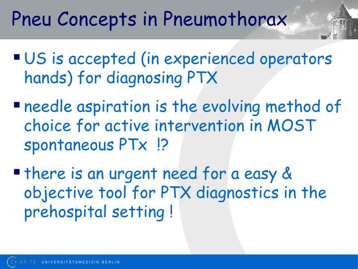 Pneu Concepts in Pneumothorax
