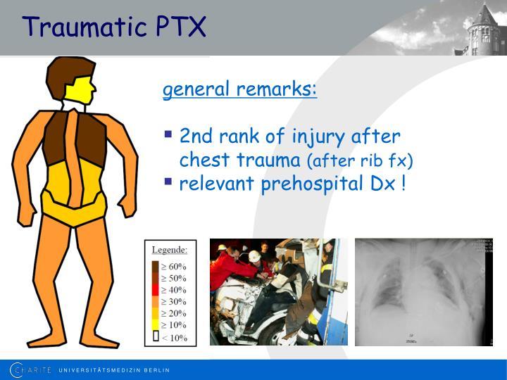 Traumatic PTX