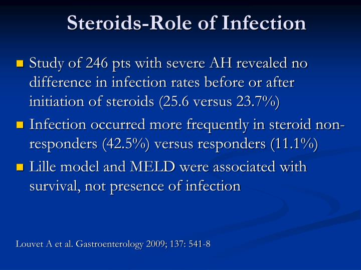 Steroids-Role of Infection