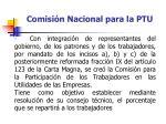 comisi n nacional para la ptu