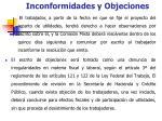 inconformidades y objeciones