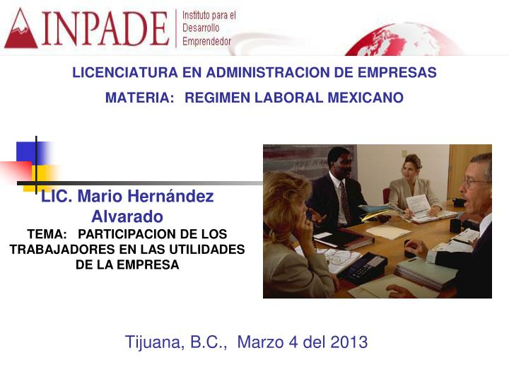 licenciatura en administracion de empresas materia regimen laboral mexicano n.