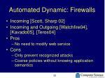 automated dynamic firewalls