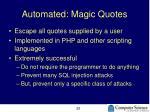 automated magic quotes