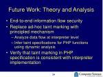 future work theory and analysis