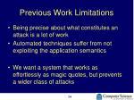 previous work limitations
