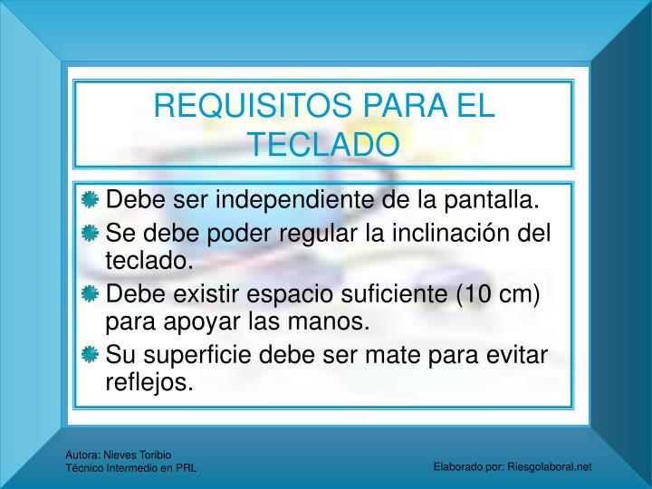 REQUISITOS PARA