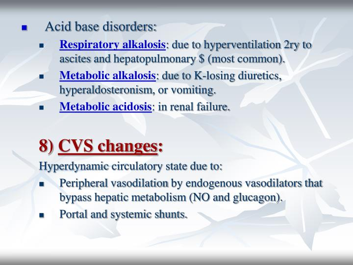 Acid base disorders: