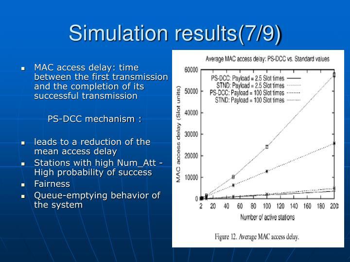 Simulation results(7/9)