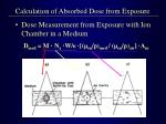 calculation of absorbed dose from exposure5