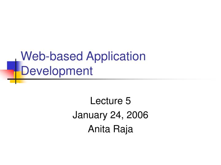 web based application development n.