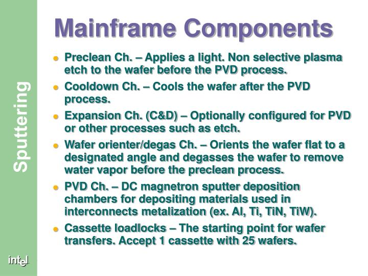 Mainframe Components