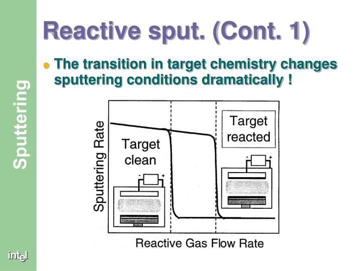 Reactive sput. (Cont. 1)