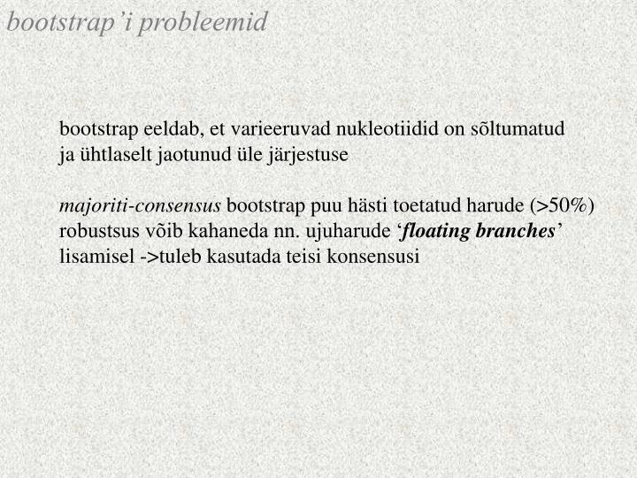 bootstrap'i probleemid