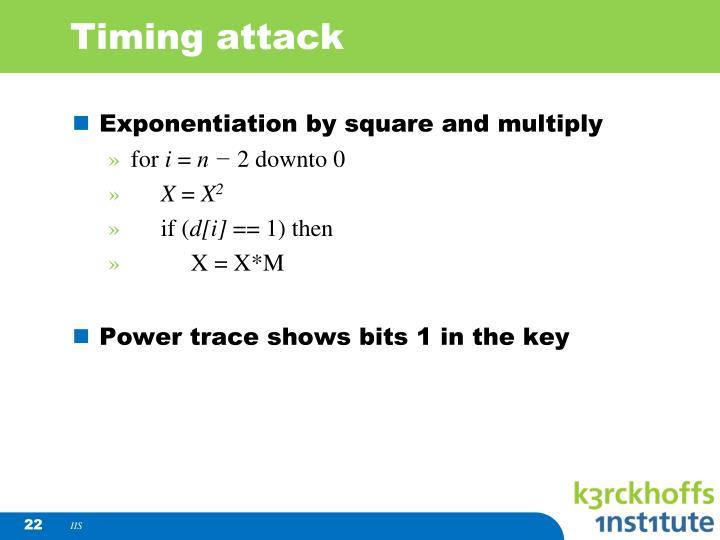 Timing attack