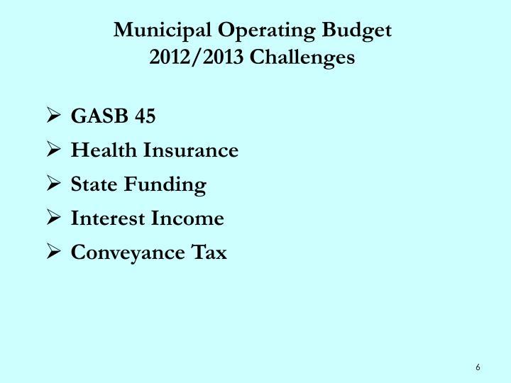Municipal Operating Budget