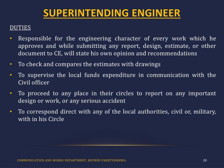 SUPERINTENDING ENGINEER