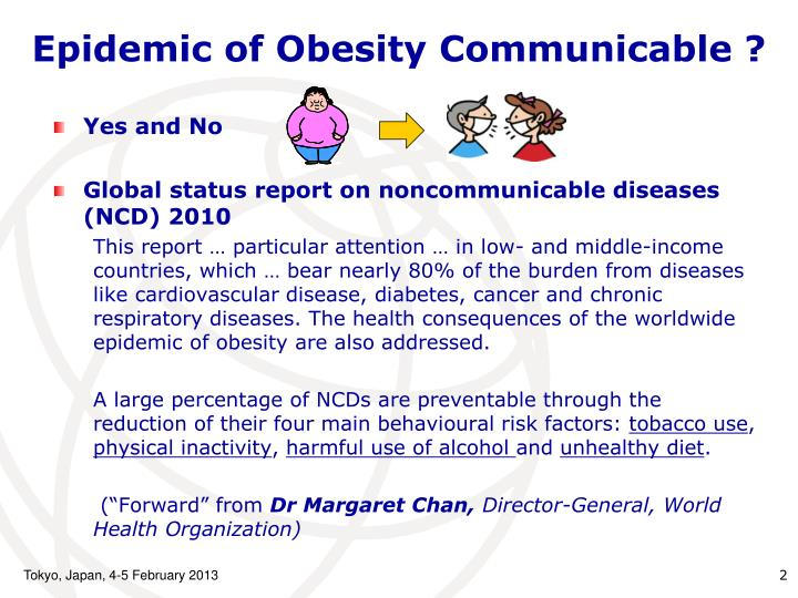 Epidemic of obesity communicable