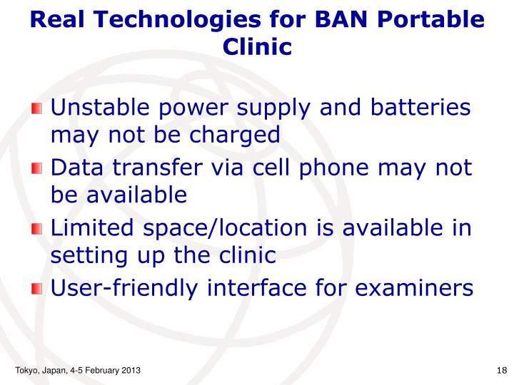 Real Technologies for BAN
