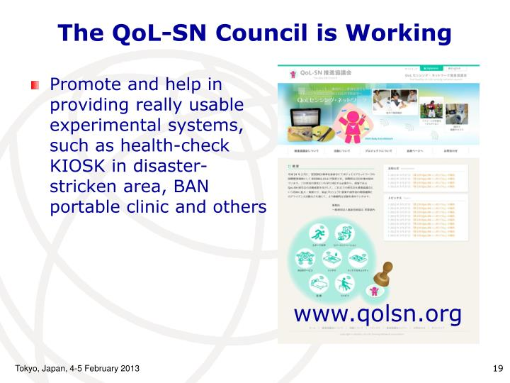 The QoL-SN Council is Working