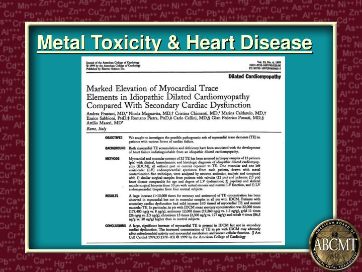 Metal Toxicity & Heart Disease