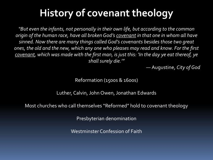 History of covenant theology