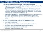 core hrsdc disability requirements