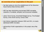 an overview of our cooperation in the past