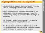 preparing public use files the purpose of it