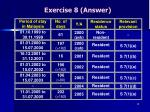 exercise 8 answer