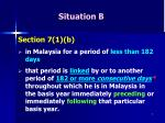 situation b