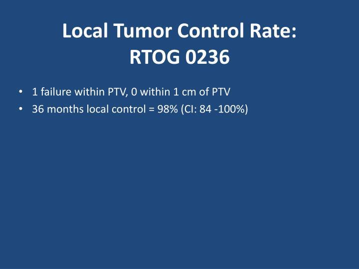 Local Tumor Control Rate: